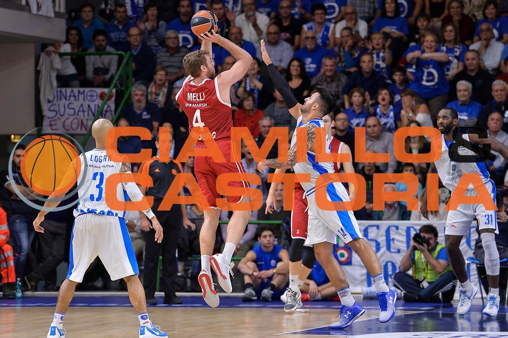 DESCRIZIONE : Eurolega Euroleague 2015/16 Group D Dinamo Banco di Sardegna Sassari - Brose Basket Bamberg<br /> GIOCATORE : Nicolo Melli<br /> CATEGORIA : Tiro Tre Punti Three Point Controcampo<br /> SQUADRA : Brose Basket Bamberg<br /> EVENTO : Eurolega Euroleague 2015/2016<br /> GARA : Dinamo Banco di Sardegna Sassari - Brose Basket Bamberg<br /> DATA : 13/11/2015<br /> SPORT : Pallacanestro <br /> AUTORE : Agenzia Ciamillo-Castoria/L.Canu