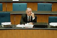 05 FEB 1998, BONN/GERMANY:<br /> Oskar Lafontaine, SPD Parteivorsitzender, während der Debatte über die Bekämpfung der Arbeitslosigkeit, Deutscher Bundestag<br /> IMAGE: 19980205-01/02-27