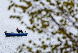THEMENBILD - Angler in einem Boot beim fischen am Zeller See, aufgenommen am 29. April 2017, Zell am See, Österreich // Anglers in a boat while fishing on Lake Zell at Zell am See, Austria 2017/04/29. EXPA Pictures © 2017, PhotoCredit: EXPA/ JFK