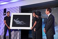 Japanese fashion designer Yohji Yamamoto during the presentation of the Real Madrid's new Champions League kit at the Santiago Bernabeu stadium in Madrid, Spain. May 26, 2013. (ALTERPHOTOS/Victor Blanco)