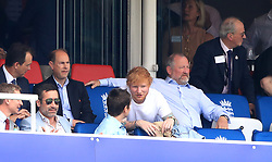 Ed Sheeran in the stands during the ICC Cricket World Cup group stage match at Lord's, London.