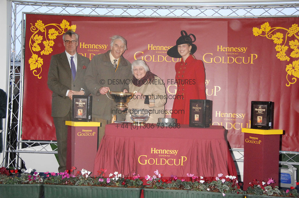 Left to right, MAURICE HENNESSY, the owners of Denman and LADY GABRIELLA WINDSOR at the 2007 Hennessy Gold Cup held at Newbury racecourse, Berkshire on 1st December 2007.<br /><br />NON EXCLUSIVE - WORLD RIGHTS