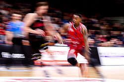 Panos Mayindombe of Bristol Flyers runs with the ball - Photo mandatory by-line: Robbie Stephenson/JMP - 11/01/2019 - BASKETBALL - Leicester Sports Arena - Leicester, England - Leicester Riders v Bristol Flyers - British Basketball League Championship