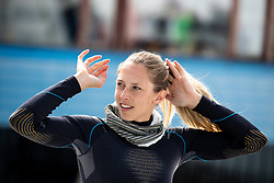 Ana Bucik during spring practice session of Meta Hrovat and Ilka Stuhec on May 18, 2020 in Kanin, Bovec, Slovenia. Photo by Matic Klansek Velej / Sportida