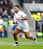 Picture by Andrew Tobin/SLIK images +44 7710 761829. 2nd December 2012. Manu Tuilagi in action during the QBE Internationals match between England and the New Zealand All Blacks at Twickenham Stadium, London, England. England won the game 38-21.