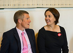 Pictured: Willie Rennie and Kezia Dugdale<br /> <br /> Scottish Labour leader  Kezia Dugdale MSP  joined Scottish Greens Sarah-Beattie Smith, Conservative Jackson Carlop, SNP's Steven Geffins MP along with  Liberal Democrats Nick Clegg and Willie Rennie at the European Movement for Scotland rally in Edinburgh today.<br /> Ger Harley | EEm 16 June 2016