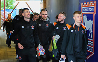 Blackpool players arrive at the ground<br /> <br /> Photographer Chris Vaughan/CameraSport<br /> <br /> The EFL Sky Bet League One - Ipswich Town v Blackpool - Saturday 23rd November 2019 - Portman Road - Ipswich<br /> <br /> World Copyright © 2019 CameraSport. All rights reserved. 43 Linden Ave. Countesthorpe. Leicester. England. LE8 5PG - Tel: +44 (0) 116 277 4147 - admin@camerasport.com - www.camerasport.com