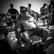 New York.Mermaid parade in Coney island , Brighton beach  new york  Usa / parade des sirènes Coney island Brighton beach, parade deguisee humoristique  New york  Usa