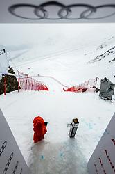 15.03.2016, Engiadina, St. Moritz, SUI, FIS Weltcup Ski Alpin, St. Moritz, Abfahrt, Herren, 1. Training, im Bild Medien Besichtigung Freefall Start // during 1st training run for the men's Downhill of St. Moritz Ski Alpine World Cup finals at the Engiadina in St. Moritz, Switzerland on 2016/03/15. EXPA Pictures © 2016, PhotoCredit: EXPA/ Freshfocus/ Manuel Lopez<br /> <br /> *****ATTENTION - for AUT, SLO, CRO, SRB, BIH, MAZ only*****