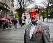 We become red for anger or embarrassment.<br />Forty years after abolition of fascism in Portugal, the country is experiencing one of the heaviest moments of its history in Democracy.<br />In the streets, an exhausted generation staggers, struggling to bear the burden of survival.<br />There are few young people who still manage to stay in the country, and although they attemp a smile, the melancholy of an uncertain future is clear in their eyes.<br />Those red eyes are a mixture of indignation and shame, between the apaty of a stagnant economy and the anxiety of a way out that it is not yet clear.