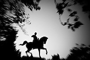 """a Garibaldi statue in a park.The shadow line is a trip, a trip losing myself, looking for myself.<br /> Like the romance """"the shadow line"""" by Joseph Conrad (1917).<br /> I was in Italy, England, Bosnia, Montenegro, Serbia..<br /> It isn't a reportage, it isn't a story.<br /> It is a searching.."""