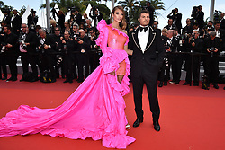 """Lorena Rae and Eli Mizrahi attend the screening of """"Oh Mercy! (Roubaix, une Lumiere)"""" during the 72nd annual Cannes Film Festival on May 22, 2019 in Cannes, France. Photo by Lionel Hahn/ABACAPRESS.COM"""