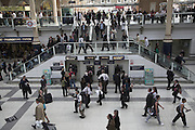 People on the concourse of Liverpool Street station London England
