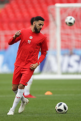 June 22, 2018 - Moscow, RUSSIA - Tunesia's Dylan Bronn pictured during a training session of Tunisian national soccer team in the Spartak stadium, in Moscow, Russia, Friday 22 June 2018. The team is preparing for their second game against Belgium tomorrow at the FIFA World Cup 2018. BELGA PHOTO BRUNO FAHY (Credit Image: © Bruno Fahy/Belga via ZUMA Press)