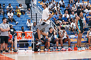 THOUSAND OAKS, CA Sunday, August 12, 2018 - Nike Basketball Academy. Rasheed Wallace reacts from the bench. <br /> NOTE TO USER: Mandatory Copyright Notice: Photo by John Lopez / Nike