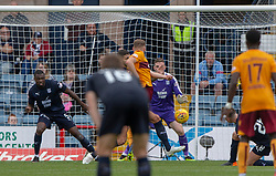 Motherwell's Allan Campbell (8) scoring their third goal. Dundee 1 v 3 Motherwell, SPFL Ladbrokes Premiership game played 1/9/2018 at Dundee's Kilmac stadium Dens Park
