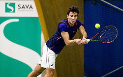 Tin Krstulovic in action during Slovenian National Tennis Championship 2019, on December 21, 2019 in Medvode, Slovenia. Photo by Vid Ponikvar/ Sportida