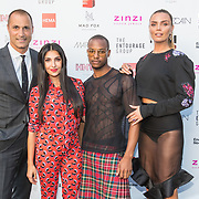 NLD/Amsterdam/20170621 - Bekendmaking jury van 'Holland's Next Top Model, v.l.n.r. Nigel Barker, Anna Nooshin, Jean Paul Paula, Kim Feenstra