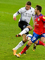Football - 2020 / 2021 Sky Bet Championship - Swansea City vs Blackburn Rovers - Liberty Stadium<br /> <br /> \14\ on the ball challenged by Jacob Davenport of Blackburn Rovers & \19<br /> in a match played without fans<br /> <br /> COLORSPORT