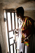 Leader of the House of Lords Baroness Valerie Amos stands by the gate of no return - through which slaves left as they embarked on boats that took them to the New World - as she visits the former slave fort of Elmina Castle in Elmina, Ghana, on Sunday Mar 4, 2007. Amos was visiting on the occasion of the 200th anniversary of the abolition of slave trade, which coincides with Ghana's 50th anniversary of independence.