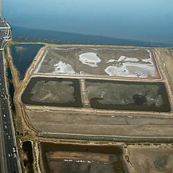 Aerial view of the San mateo Bridge, California