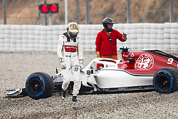 March 1, 2018 - Barcelona, Spain - ERICSSON Marcus (swe), Alfa Romeo Sauber F1 Team C37, in the gravels during Formula 1 winter tests 2018 at Barcelona, Spain from February 26 to March 01 - Photo Florent Gooden / DPPI  Motorsports: FIA Formula One World Championship 2018, Test in Barcelona, (Credit Image: © Hoch Zwei via ZUMA Wire)