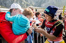 Noriaki Kasai of Japan with fans after the the Ski Flying Hill Men's Team Competition at Day 3 of FIS Ski Jumping World Cup Final 2017, on March 25, 2017 in Planica, Slovenia. Photo by Vid Ponikvar / Sportida
