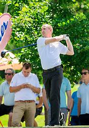 Blaz Mlakar of Slovenia during Slovenia Long Drivers European Tour  Championship on July 5, 2014 in  Golf Arboretum Ljubljana, Volcji Potok, Slovenia. Photo By Vid Ponikvar / Sportida