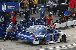 May 6, 2018 - Dover, Delaware, United States of America - Alex Bowman (88) comes down pit road for service during the AAA 400 Drive for Autism at Dover International Speedway in Dover, Delaware. (Credit Image: © Justin R. Noe Asp Inc/ASP via ZUMA Wire)