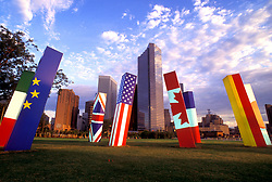 Stock photo of the Light Spikes sculpture in downtown Houston Texas