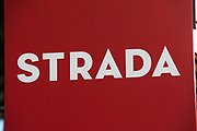 Sign for restaurant chain Strada.