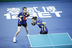 February 23, 2018 - London, England, United Kingdom - Herng Hwee YEE and Mengyu YU of Singapore during ITTF Team World Cup match between Hina HAYATA and Mima ITO of Japan and Herng Hwee YEE and Mengyu YU of Singapore, Quarter Finals Women doubles match on February 23, 2018 in Copper Box Arena, Olympic Park, London. (Credit Image: © Dominika Zarzycka/NurPhoto via ZUMA Press)