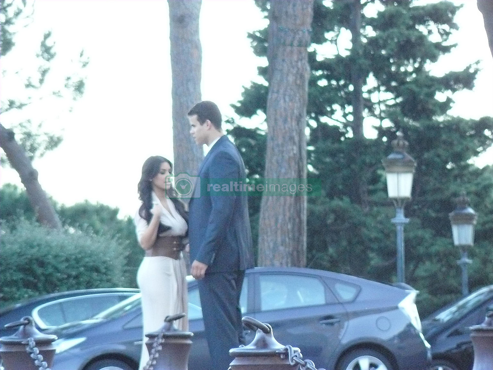 May 28, 2011 - Monte Carlo, Monaco - Exclusive - KIM KARDASHIAN recently engaged to KRIS HUMPHRIES among the guests arriving to spend an evening at a reception hosted by Prince Albert of Monaco at the Prince's Palace on Saturday evening. (Credit Image: © Derek Johnson/Whitehotpix/ZUMAPRESS.com)