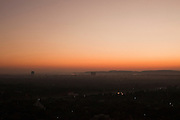 Skyline view at sunset from Mandalay Hill, Mandalay, Burma.<br /> Note: These images are not distributed or sold in Portugal