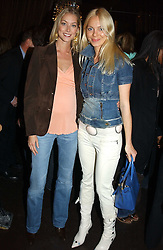 Left to right, MRS SEB BISHOP she was model Heidi Wichlinski and DONATA KORZEN at the opening party for the new BECCA cosmetics store at 91a Pelham Street, London SW7 on 19th May 2005.<br /><br />NON EXCLUSIVE - WORLD RIGHTS