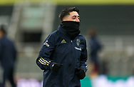 Leeds United midfielder Pablo Hernandez (19) warming up  during the Premier League match between Newcastle United and Leeds United at St. James's Park, Newcastle, England on 26 January 2021.