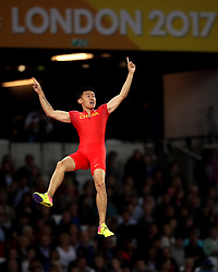 China's Changrui Xue in action in the Men's Pole Vault final during day five of the 2017 IAAF World Championships at the London Stadium.