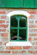 Traditional and quaint window of cottage house on Fano Island - Fanoe - South Jutland, Denmark