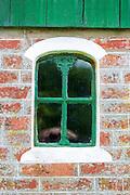 Traditional and quaint window of cottage house on Fano Island - Fanoe - South Jutland, Denmark