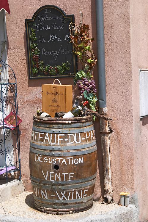 wine shop chateauneuf du pape rhone france