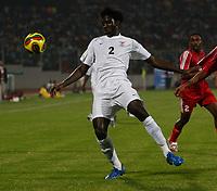 Photo: Steve Bond/Richard Lane Photography.<br />Sudan v Zambia. Africa Cup of Nations. 22/01/2008. Jacob Mulenga controls the ball