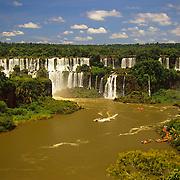 Mighty Igwacu Falls (Foz Igwacu) in Brazil.