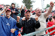 El Girona F.C. continua a segona divisió A després de marcar de penaly contra el Murcia al minut afegit.