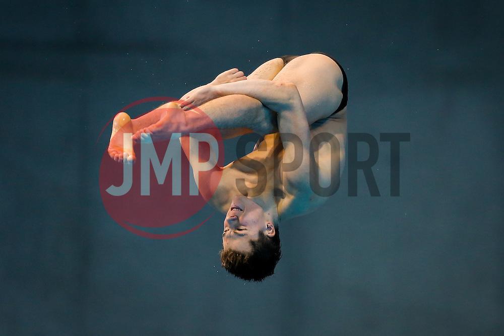 Freddie Woodward of Great Britain during the Mens 3m Springboard Preliminary - Mandatory byline: Rogan Thomson/JMP - 12/05/2016 - DIVING - London Aquatics Centre - Stratford, London, England - LEN European Aquatics Championships 2016 Day 4.