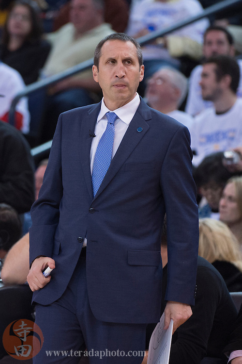 December 25, 2015; Oakland, CA, USA; Cleveland Cavaliers head coach David Blatt during the fourth quarter in a NBA basketball game on Christmas against the Golden State Warriors at Oracle Arena. The Warriors defeated the Cavaliers 89-83.