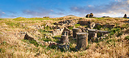 Ruins of a Zoroastrian Fire Temple at Ani archaelogical site on the Ancient Silk Road ,  Anatolia, Turkey .<br /> <br /> If you prefer to buy from our ALAMY PHOTO LIBRARY  Collection visit : https://www.alamy.com/portfolio/paul-williams-funkystock/ani-turkey.html<br /> <br /> Visit our TURKEY PHOTO COLLECTIONS for more photos to download or buy as wall art prints https://funkystock.photoshelter.com/gallery-collection/3f-Pictures-of-Turkey-Turkey-Photos-Images-Fotos/C0000U.hJWkZxAbg