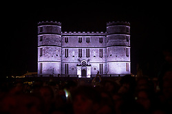 General view of Lulworth Castle at Camp Bestival 2018, Wareham. Picture date: Friday 27th July 2018. Photo credit should read: David Jensen/EMPICS Entertainment