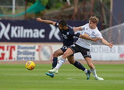 Dundee's Adil Nabi and Ayr United's Alan Forest. half time : Dundee 0 v 0 Ayr United, Scottish League Cup Second Round, played 18/8/2018 at the Kilmac Stadium at Dens Park, Scotland.
