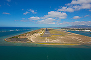 Reef runway, Honolulu International Airport, Oahu, Hawaii