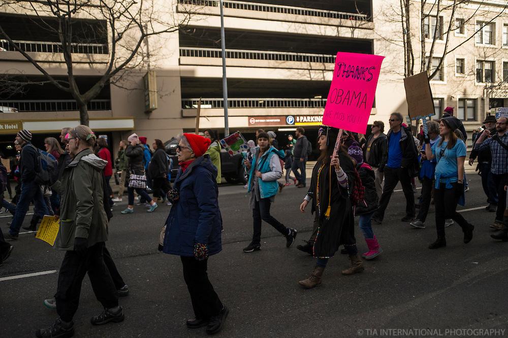 Women's March, Seattle. January 21, 2017.